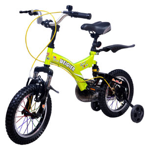 【当当自营】儿童自行车男女表演车14寸16寸18寸学生车 山地车学生车好孩子必备品 小酷熊14寸绿色