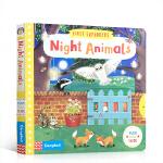 英文原版绘本First Explorers Night Animals 夜行动物 动物探索幼儿知识启蒙机关操作活动纸板