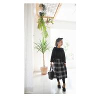女童格子半身裙18年秋新品复古黑白童裙简约时尚童装