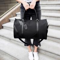 手提男士旅行包商务出差包短途手提袋手提包行李包轻便旅游行李袋 黑色