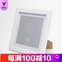 正方形相框摆台挂墙装裱画框7寸照片8 10 12寸十字绣装裱创意相框品质保证