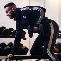 2018新款肌肉裤子兄弟男士运动跑步外套开衫男健身训练长袖卫衣修身拉链衫小脚裤透气