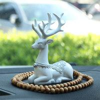 汽车车内饰品摆件 一路平安小鹿创意车载车用装饰个性漂亮保平安
