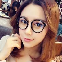 2018新品蓝光眼镜电脑护目镜男女潮无度数平光圆框眼镜框架防护眼睛