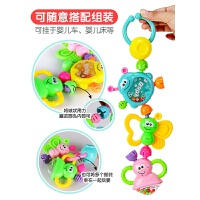 婴儿玩具3-6-12个月新生儿摇铃0-1岁宝宝早教幼儿手摇铃牙胶抖音