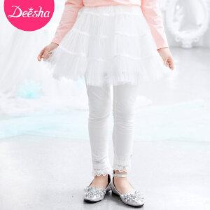 【3件3折到手价:37元】笛莎女童2019春季新款半身裙中大女童珠光网纱气质半身裙