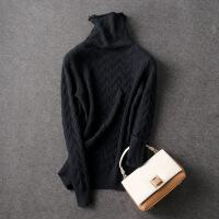 №【2019新款】冬天美女穿的新款高领纯色羊绒衫女短款衫毛衣堆堆领针织衫套头打底衫 2X