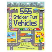 555 Sticker Fun Vehicles 555张贴纸 交通工具 英文原版书 儿童