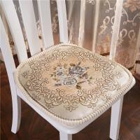 四季欧式布艺可拆洗简约现代加厚家用凳子餐桌椅子垫子坐垫带绑带