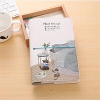日韩创意活页夹手账本A6盒装礼物笔记本文具皮面日程计划本记事本