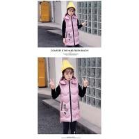 女童马甲冬季外穿2018新款韩版冬装洋气加厚保暖连帽儿童背心上衣
