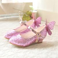 儿童皮鞋公主鞋春秋季新款女童高跟鞋韩版学生时尚单鞋蝴蝶结