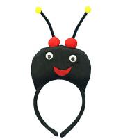 儿童节表演道具动物头饰水果蔬菜发卡派对卡通头箍香蕉苹果梨发箍 单发卡 蚂蚁