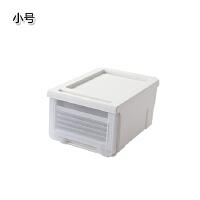 抽屉式塑料整理箱 家用衣物洗漱用品储物箱杂物收纳柜 白色