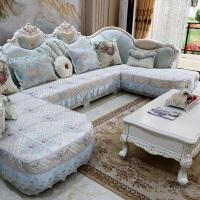 欧式沙发垫四季通用布艺防滑客厅皮艺沙发坐垫套U型全包罩巾定做定制!