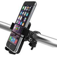自行车手机支架 摩托车通用电动车滑板车导航仪支架 黑色 适用手机宽度为6.0-9.5cm