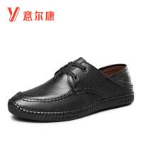【限时价163.6】意尔康男鞋男士单鞋商务男皮鞋男士休闲鞋男士皮鞋
