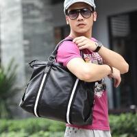 男包手提包单肩斜挎包商务休闲包男公文包皮包男士包包撞色电脑包 咖啡色