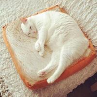 猫咪土司切片面包坐垫椅垫吐司宠物垫子抱枕靠垫可拆洗办公室靠枕