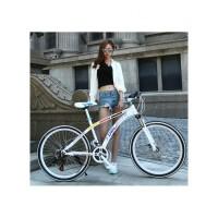 艾仕图 山地自行车 26寸/24寸山地车21速减震变速自行车一体轮学生单车bike