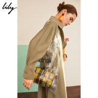 【5.16-5.17抢购价:89】Lily春款时髦字母透明两用塑料大购物袋119110BZ433