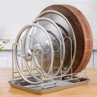 锅盖架坐式 304不锈钢放砧菜案板的厨房置物架子用品收纳带接水盘ik4