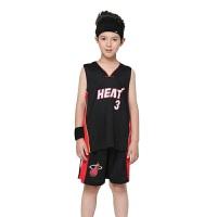 夏季儿童篮球服套装热火男女童青热火球队中小学生蓝球衣比赛队服训练服球衣背心套装