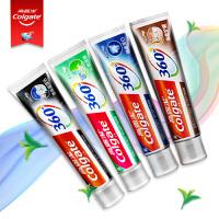 高露洁(Colgate)360°新品 双锌全效牙膏4支装 (备长炭深洁+美白牙齿+金参护龈+长效清新)