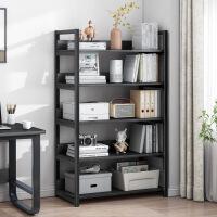 【爆款】钢木书架简易置物架落地客厅组装储物货架收纳多功能简约铁艺书柜