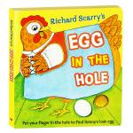 英文原版绘本 Egg in the Hole 洞里的鸡蛋 洞洞触摸纸板书 Richard Scarry 斯凯瑞金色童书