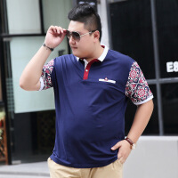 天天超大码肥佬胖子立领T恤翻领加肥大码短袖体恤男士polo衫