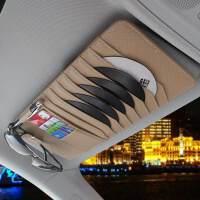 汽车CD夹遮阳板CD套蝴蝶结多功能车用光盘碟片收纳袋车载CD包 汽车用品