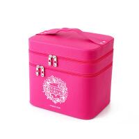 简约多层护肤品收纳盒  手提双层化妆品箱  大号化妆包