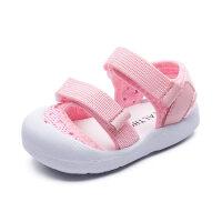 男宝宝凉鞋1-3岁儿童鞋夏季婴儿包头软底不掉鞋2女童透气学步鞋子