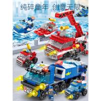 积木拼装玩具益智男孩智力机器人�犯咂赐级�脑小颗粒宝宝儿童玩具