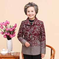 加绒中老年女装妈妈装上衣老年人女秋冬装厚奶奶装外套60-70-80岁