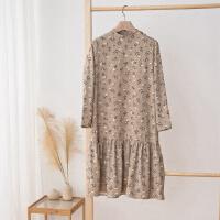 【全场2件2.5折,到手价:43.8】美特斯邦威连衣裙女秋季新复古印花裙子商场