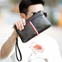 韩版新款男士手拿包 潮流撞色男女手腕包 休闲出行零钱手拿包