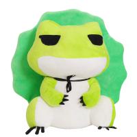 旅行青蛙周边抱枕旅游青蛙玩偶办公室午睡毯靠垫毛绒玩具公仔崽崽 抱枕毯46cm毯子1米* 1米7(现货)