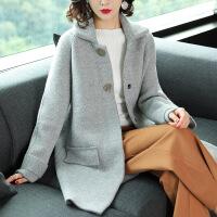 毛呢子风衣外套中长款2018秋冬季新款女装时尚宽松洋气质加厚开衫