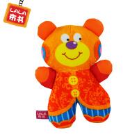 LALABABY/拉拉布玩 宝宝益智玩具 内置摇铃 双面熊