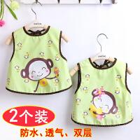 围嘴防水纯棉婴儿宝宝背心式个月大号饭兜6-12口水巾1-3岁