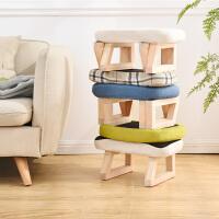 实木小凳子客厅创意复古小板凳家用成人穿鞋凳沙发换鞋凳布艺矮凳