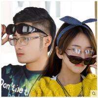 大气护目眼镜防眩光司机眼镜男女情侣款近视太阳镜套镜夹片偏光墨镜