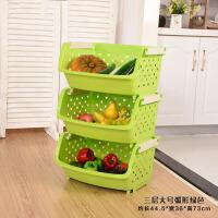 厨房置物架塑料水果蔬菜储物架收纳篮整理架3层厨房用品