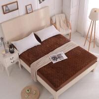 水晶绒床笠单件夹棉加厚保暖床罩席梦思床垫保护套1.2m1.5m1.8米 水晶绒 咖啡