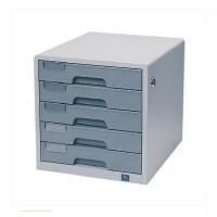 得力文件柜9702 五5层 金属 带锁 桌面抽屉柜文件柜