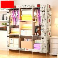 简易布艺衣柜钢管组装折叠收纳柜衣橱