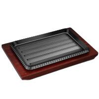 家用长方形加厚不粘铁板烧烧烤盘烤肉盘牛排盘烤鱼盘无涂层
