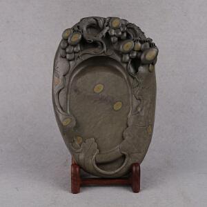 中国非物质文化遗产传承人群 钟景锐作品《硕果累累》砚 梅花坑 砚台